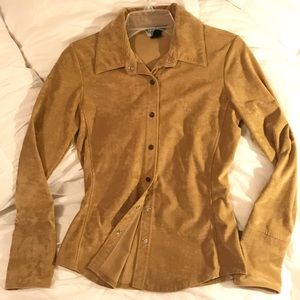 Victoria's Secret Moda Int'l Suede Top Snap Button